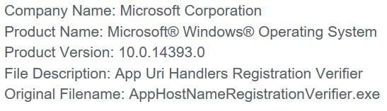 Safe Or Not Apphostregistrationverifier Exe Windows 10 Forums