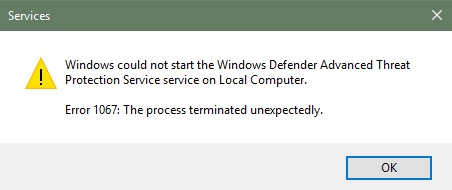 how to start windows defender service manually