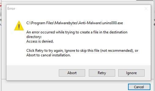 Unable to re install malwarebytes Solved - Windows 10 Forums