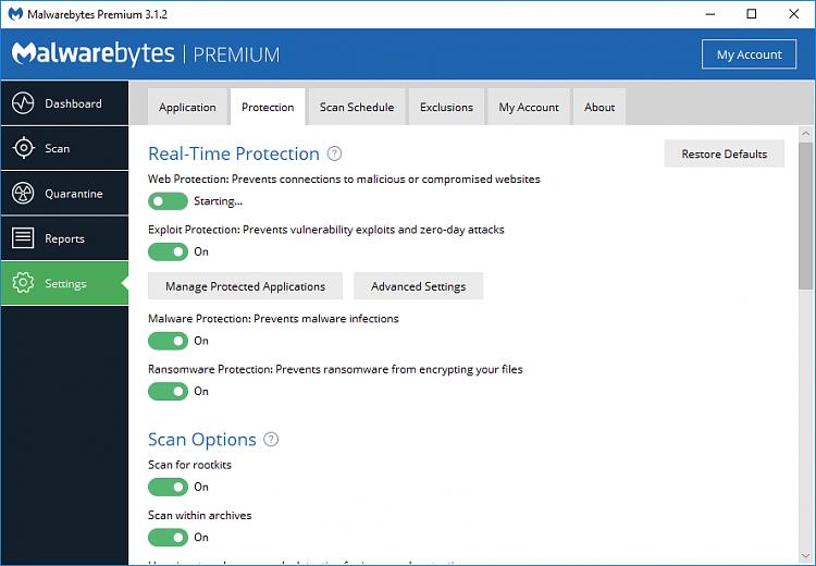 Malwarebytes Web Protection Won't Enable Solved - Windows 10