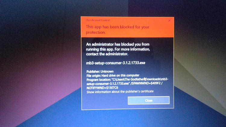 Every...i mean every anti malware blocked by unknown malware/virus-img_20170528_211757.jpg