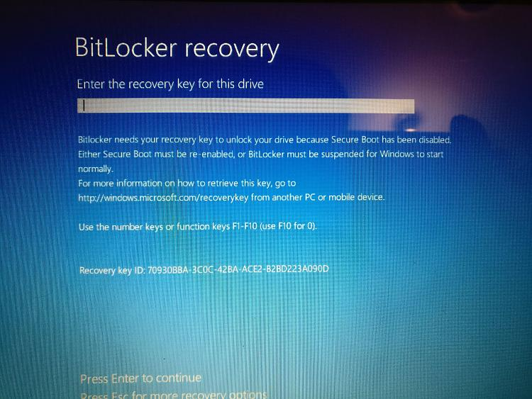 Asking for Bitlocker recovery key on login Solved - Windows 10 Forums