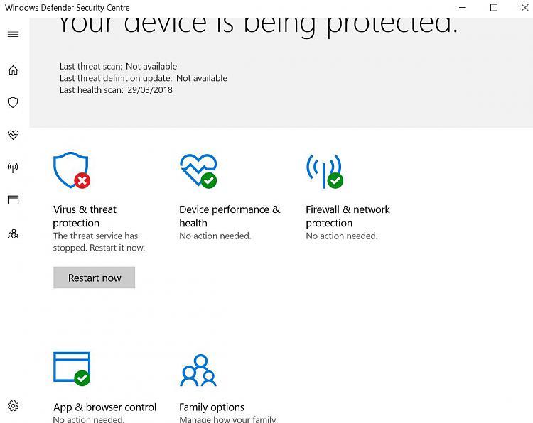 Click image for larger version.  Name:Windows Defender Security Centre.jpg Views:2 Size:73.9 KB ID:182821