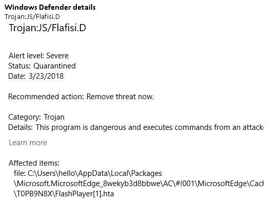 Click image for larger version.  Name:Representative Windows Defender details.JPG Views:96 Size:37.9 KB ID:186332