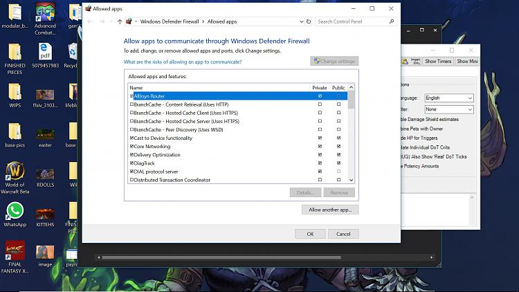 Windows Defender Firewall not letting me change settings ...