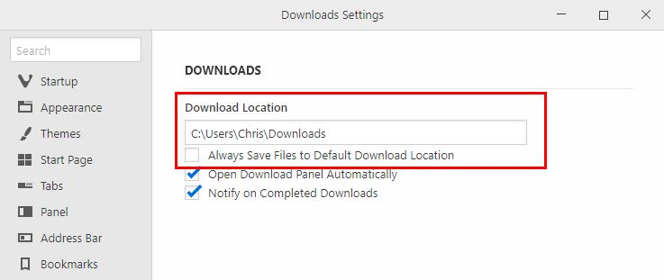 Click image for larger version.  Name:Vivaldi Settings_ Downloads.jpg Views:18 Size:25.8 KB ID:189056