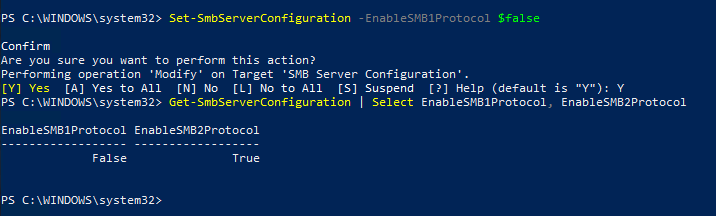 Please set the record straight on correctly disabling SMBv1-powershell-smb-commands.png