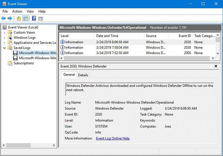 Windows Defender offline scan-event-8-06am-3-24-19.jpg