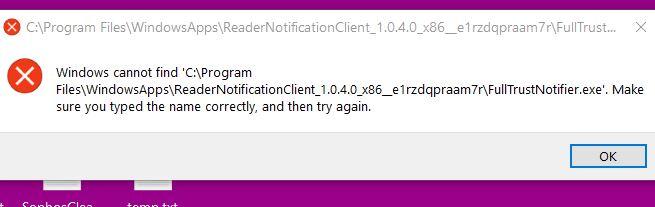 Click image for larger version.  Name:FullTrustNotifier.exe not found.JPG Views:61 Size:29.4 KB ID:238399