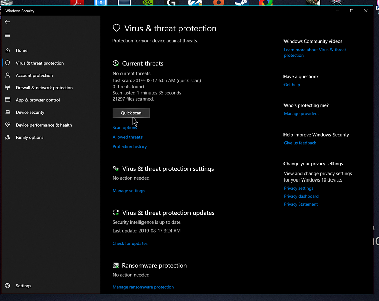 Windows defender fast scan on w10 v1903-nvidia_share_pgwznaq6al.png