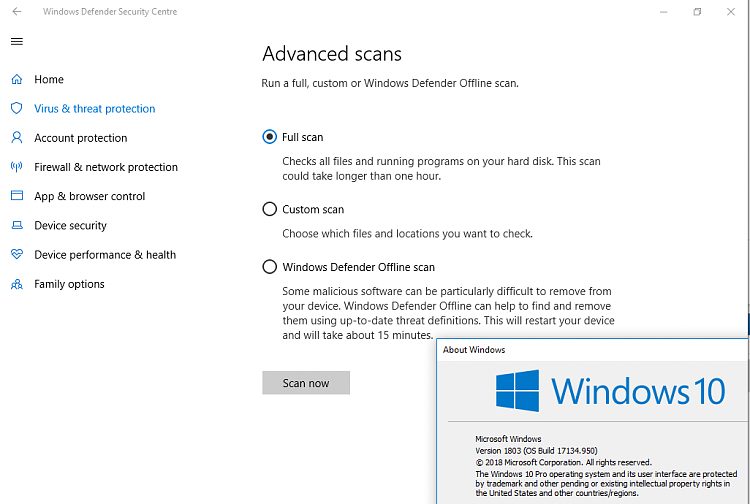 Virus scan options missing - quick scan only, advanced scan crashes-image.png