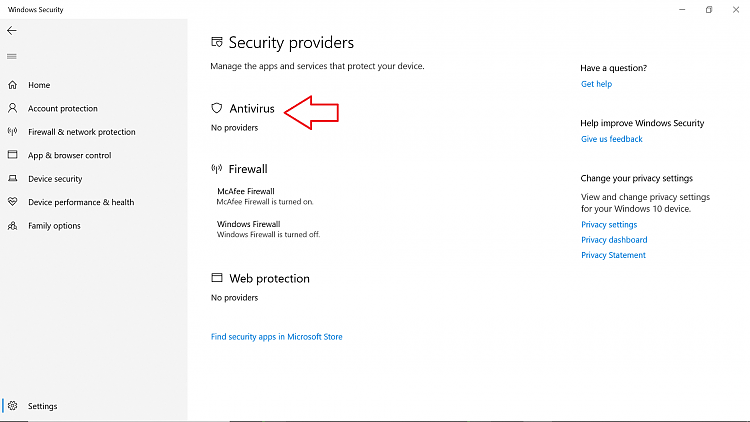 I can't see (Virus & Threat Protection) Under my Windows 10 Security-win-0003.png