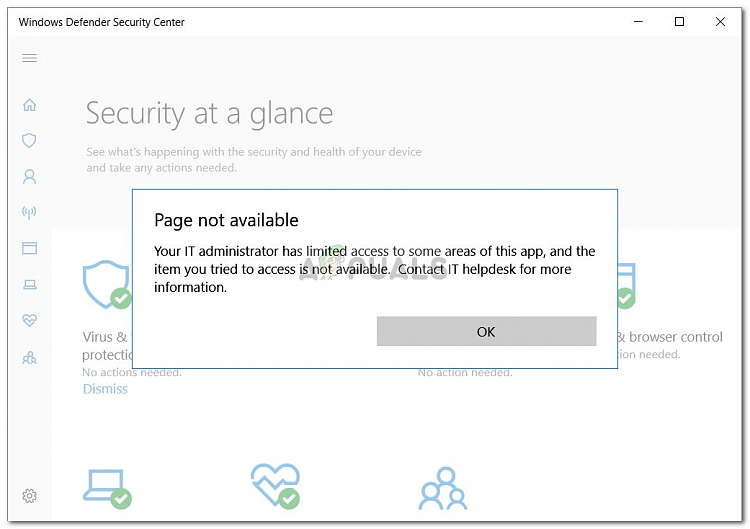 I can't see (Virus & Threat Protection) Under my Windows 10 Security-windows-10-windows-defender-error.png