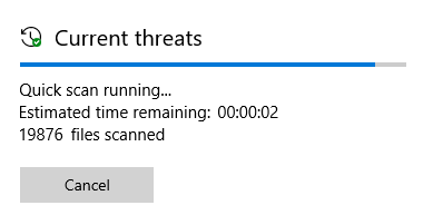 """1909 - Windows Defender freezes mid scan.. constant """"quick scan due""""-sutckfg.png"""