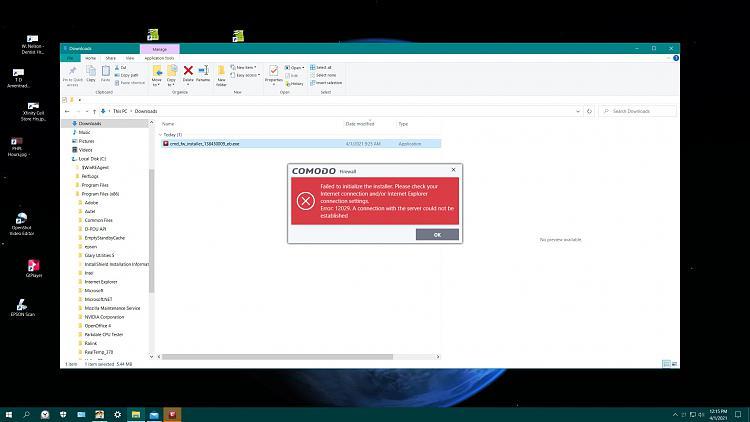 Comodo firewall install error 12029 - Help-comodo-failure.jpg