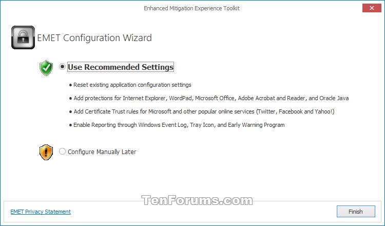 Enhanced Mitigation Experience Toolkit (EMET) for Windows 10-emet-1.png