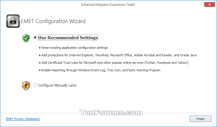 Enhanced Mitigation Experience Toolkit (EMET) for Windows 10-emet-1.png
