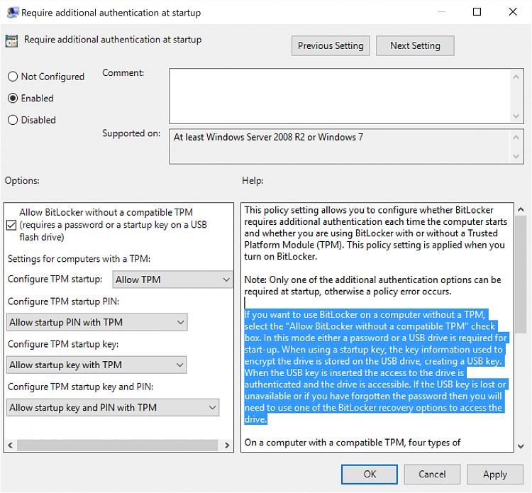 Bitlocker problem Solved - Windows 10 Forums