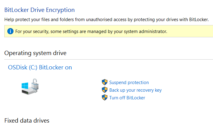 Installed Bitlocker does not ask for password on computer