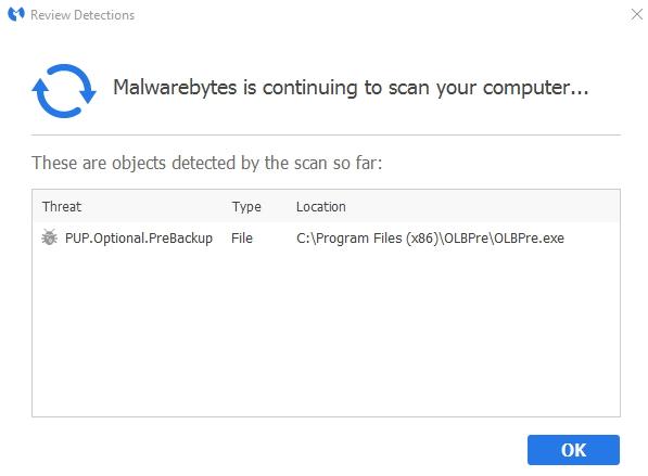 Click image for larger version.  Name:Malwarebytes .... PUP detect.jpg Views:45 Size:66.5 KB ID:66829