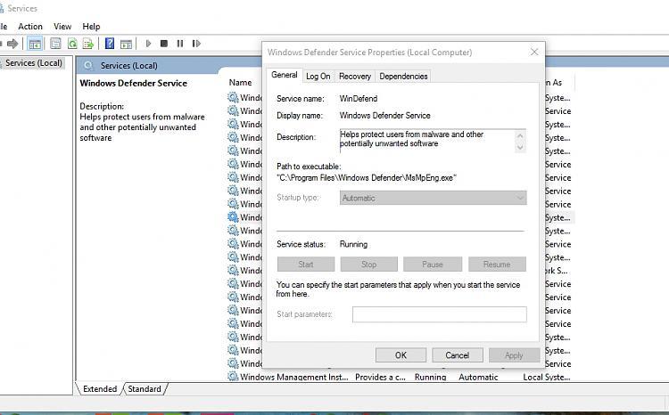 Click image for larger version.  Name:Windows defender service.jpg Views:3 Size:267.6 KB ID:72468