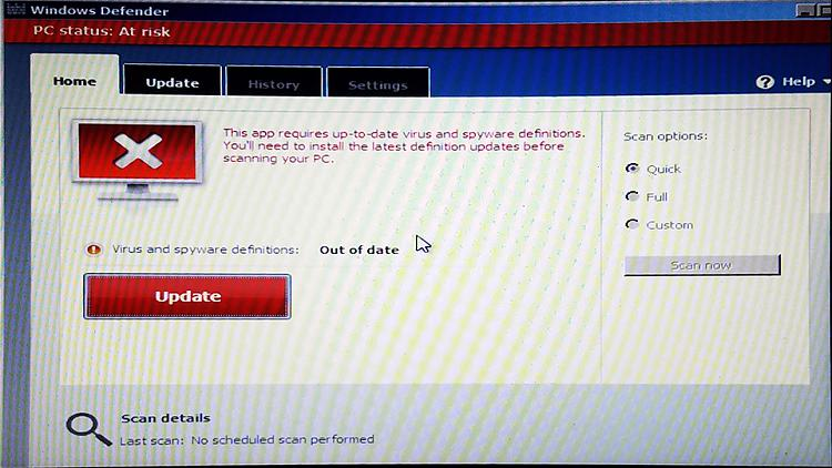 How to update a Windows Defender Offline Scan USB Tool