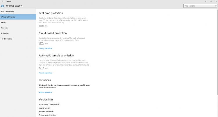 Unchangeable Windows Defender options-eb8b8a9333394236a2568b28defbc144.png