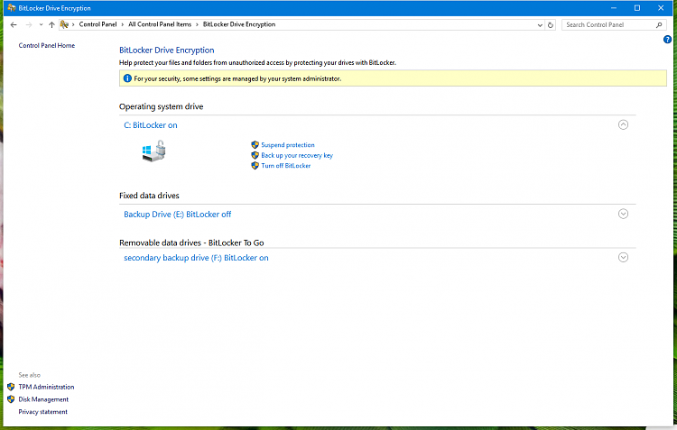 What is this Wired status message in bitlocker management??pic bellow-pict-bitelocker.png