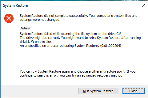 System restore failed while scanning the file system, error 0x81000204-error-message.png