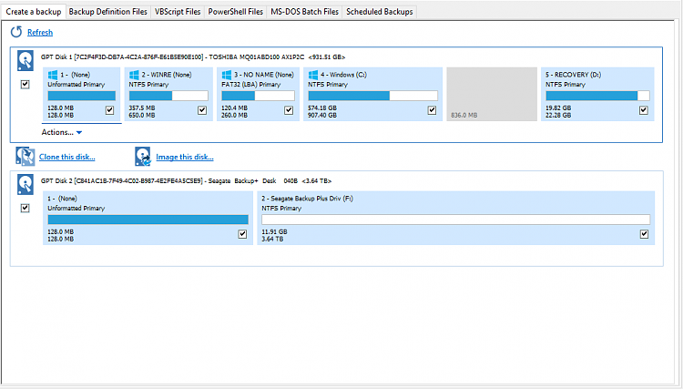 Click image for larger version.  Name:New disk showing in Macrium.PNG Views:5 Size:29.0 KB ID:123470