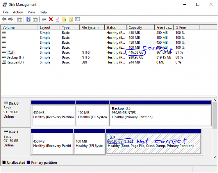 SSD not showing correct size after cloning Solved - Windows