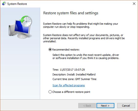 How To Create A Restore Point?