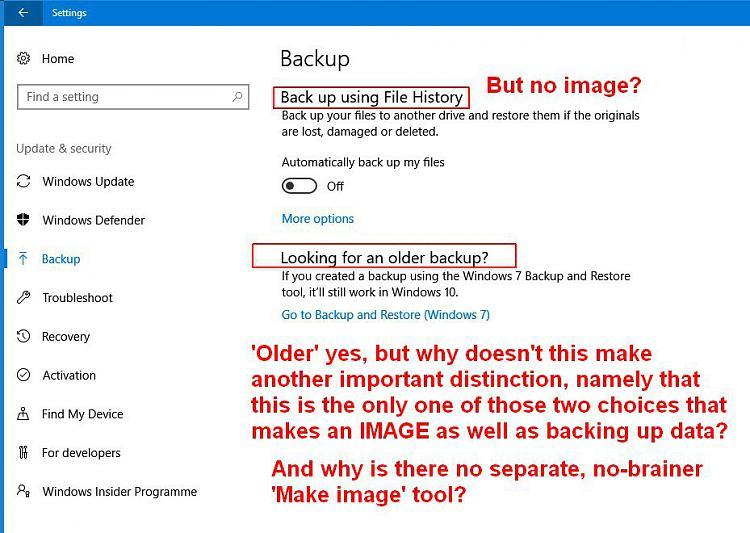 Backup and make image - Windows 10 Forums