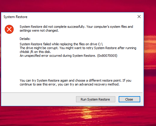 System Restore will not do a restore  to previous created Point-system-restore-error.png