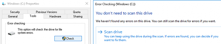 System Restore will not do a restore  to previous created Point-tools-error-checking.png