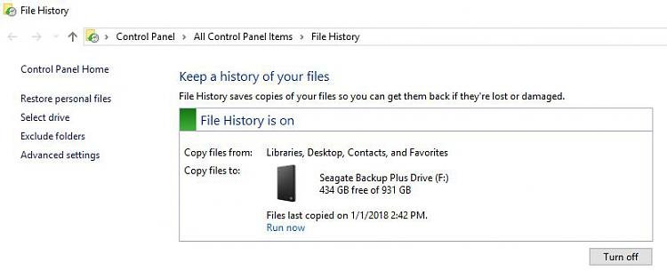 Windows10 File History Stopped Backing Up Solved - Windows