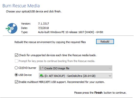 Macrium Reflect 7.1.3317 - PE 10 Rescue Media build isssue.-2.png
