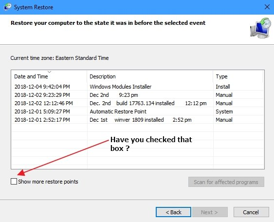 Click image for larger version.  Name:Restore points.jpg Views:23 Size:119.4 KB ID:216236