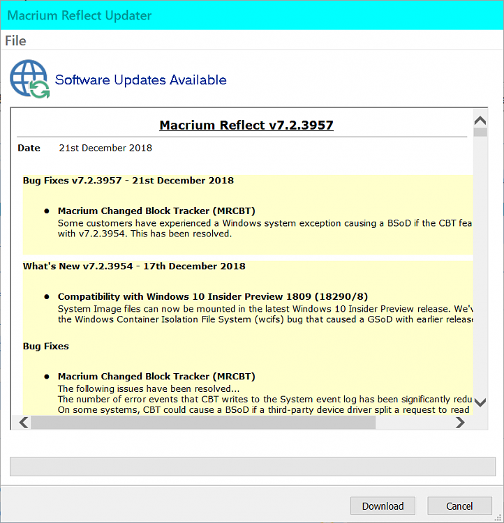 New Macrium Reflect Updates Solved - Page 194 - Windows 10 Forums