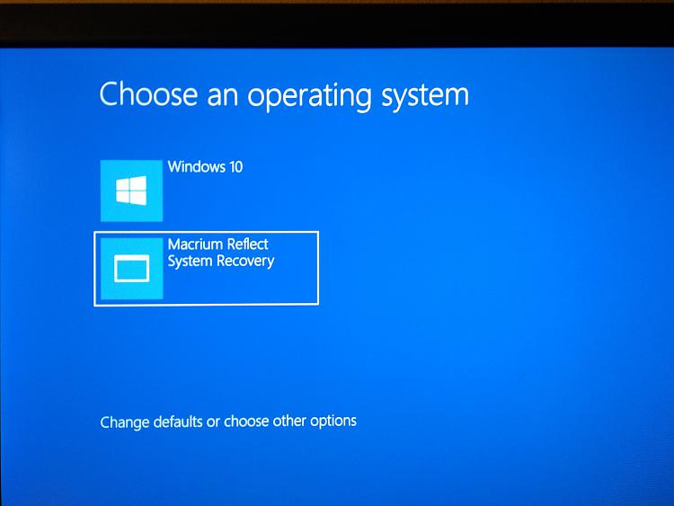 Used Macrium, now cannot get into system BIOS Solved