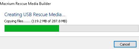 Click image for larger version.  Name:Creating USB Rescue Media Builder begins.JPG Views:15 Size:16.6 KB ID:220959
