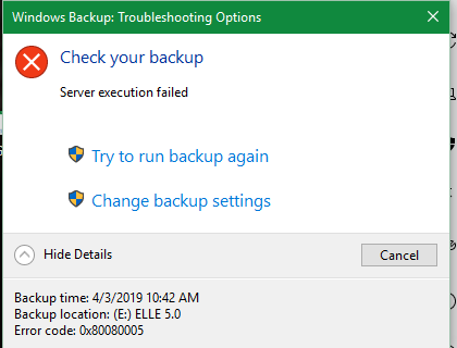 Windows 10 System Restore AND Windows Backup won't work at all
