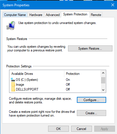 Restore Point Setup shows Local Disk (D:) as well as OS (C:) (System)-system-properties-configure-restore-point-2-.png