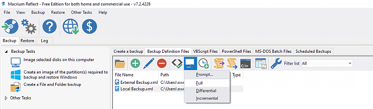 Can I backup different Windows 10 versions with Macrium