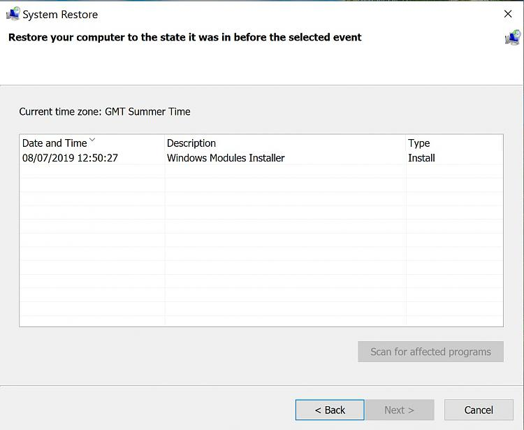 Click image for larger version.  Name:Previous System Restore Points Erased.jpg Views:1 Size:157.2 KB ID:242723