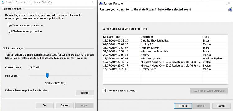 Click image for larger version.  Name:SystemRestorePoints.jpg Views:2 Size:448.1 KB ID:243067