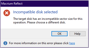 Macrium Reflect disk clone: Target disk has incompatible sector size-image.png