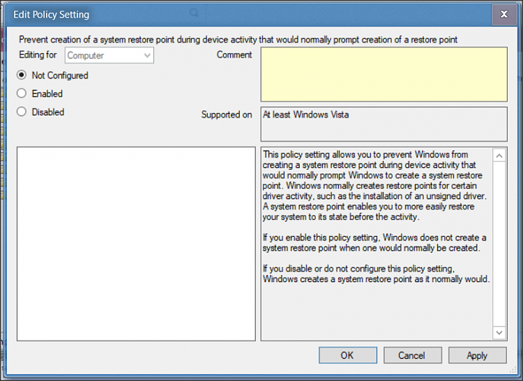 Disable create auto restore point /allow manual restore point creation-1.png