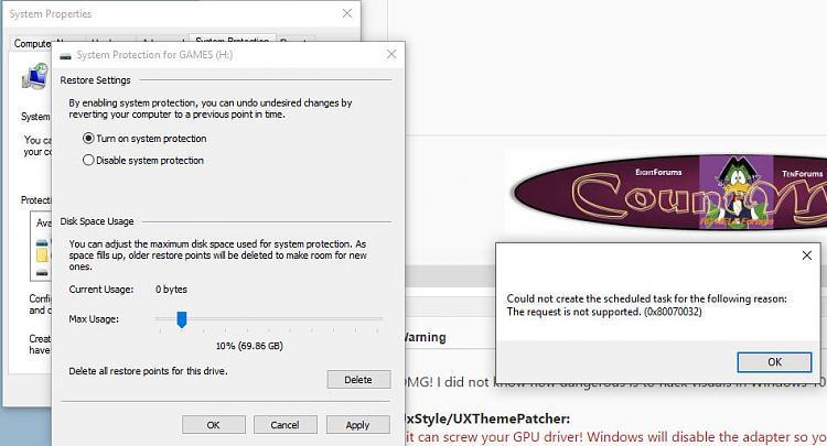 Click image for larger version.  Name:systemrestoreerror.jpg Views:6 Size:102.5 KB ID:31139