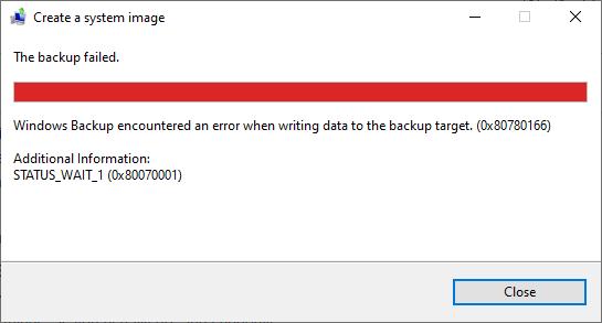 Cannot create system image error (0x80780166) status_wait_1 (0x8007000-backup-error.png